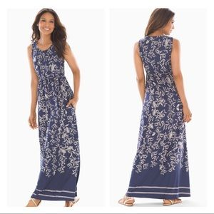 Soma High Neck Maxi Dress Villa Floral XS G638